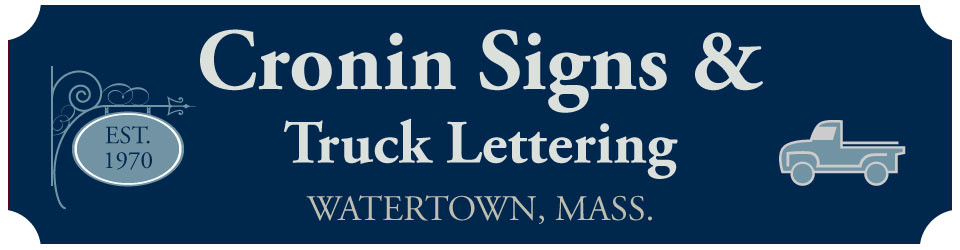 Cronin Signs and Truck Lettering
