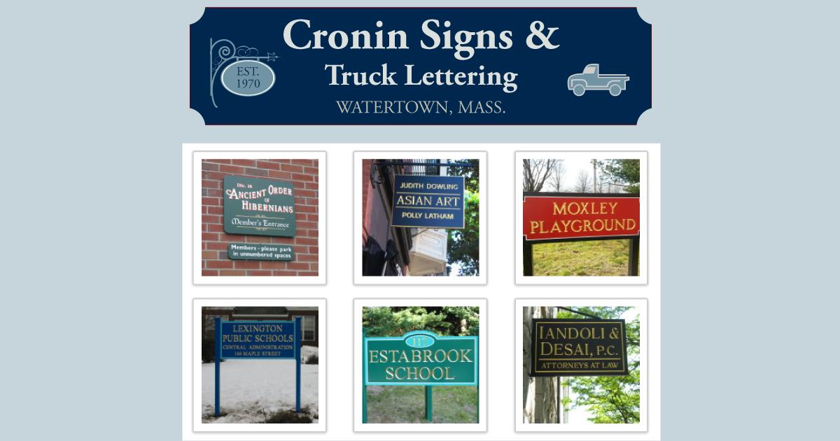 Cronin Signs